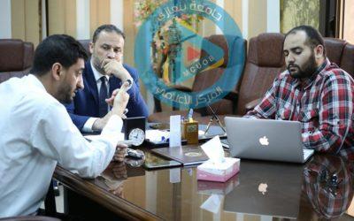 التحضيرات لانطلاق الموقع الرسمي لجامعة بنغازي