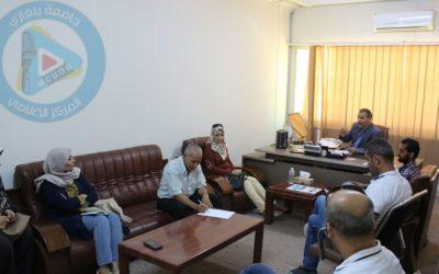 تحضيرات افتتاح راديو جامعة بنغازي اف ام